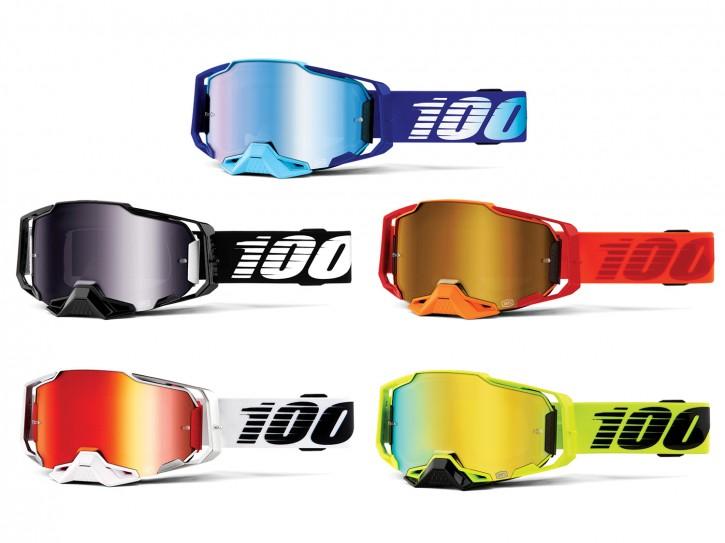 100% Armega Brille Anti Fog verspiegelt