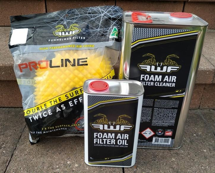 FunnelWeb Komplett Set: Proline Luftfilter + Funnelweb Luftfilteröl + Luftftilterreiniger