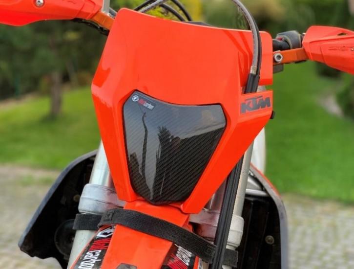 Wolfcarbon Scheinwerfer Schutz Protektor Cover für KTM EXC EXC-F ab 2014