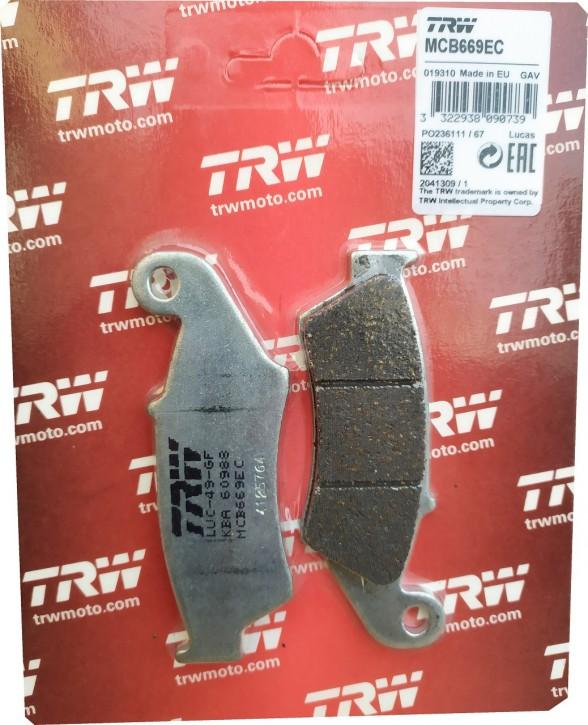 TRW Bremsbeläge vorn Standard Offroad Beta RR, Aprilia MXV RXV