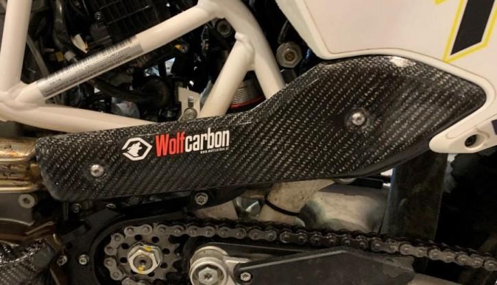 Wolfcarbon Krümmerschutz Hitzeschutz für Husqvarna 701