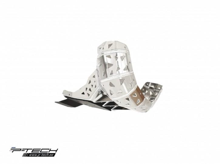 P-Tech Motorschutz mit Krümmerschutz und Kunststoffplatte für KTM SX EXC HVA TX TE 19-20