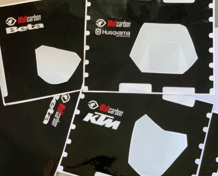 Wolfcarbon Schutzaufkleber Set KTM Husqvarna Beta